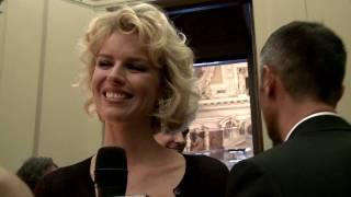 Eva Herzigova smiles to Mr Dolce&Gabbana