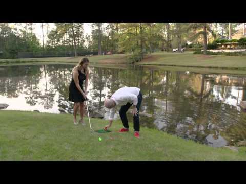 Mark Crossfield vs Amanda Balionis Pond Skipping Challenge
