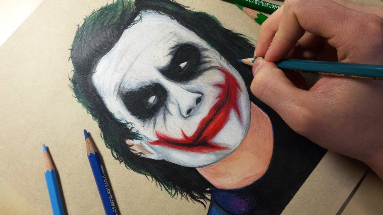 Drawing Joker Heath Ledger