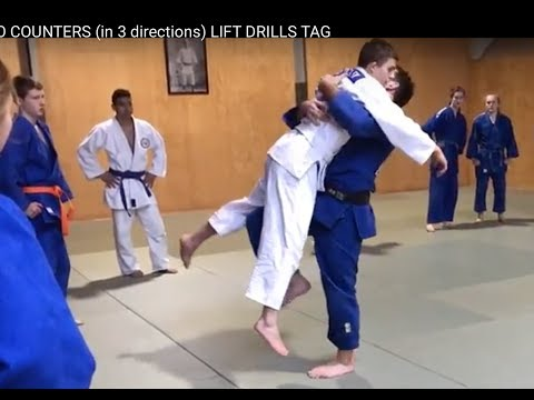 JUDO COUNTERS (in 3 directions) LIFT DRILLS     TAG