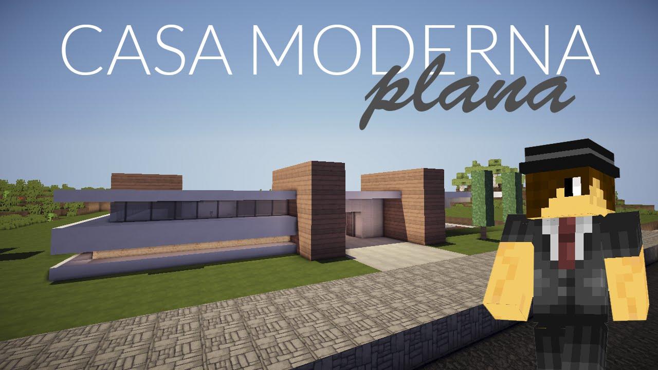 Minecraft como hacer una casa moderna plana parte 1 - Como aislar una casa ...