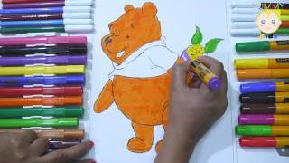 Coloring pig for kids | How to color pig by markers