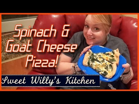 Goat Cheese Spinach Pizza
