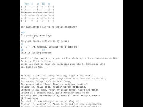 Thrift shop - feat. Wanz lyrics and chords