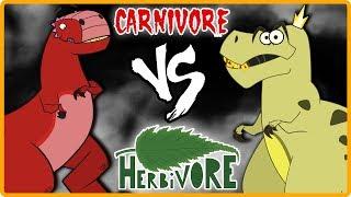 The Jurassic | MEAT EATERS VS PLANT EATERS | Dinosaurs Cartoons for Children & Kids | I