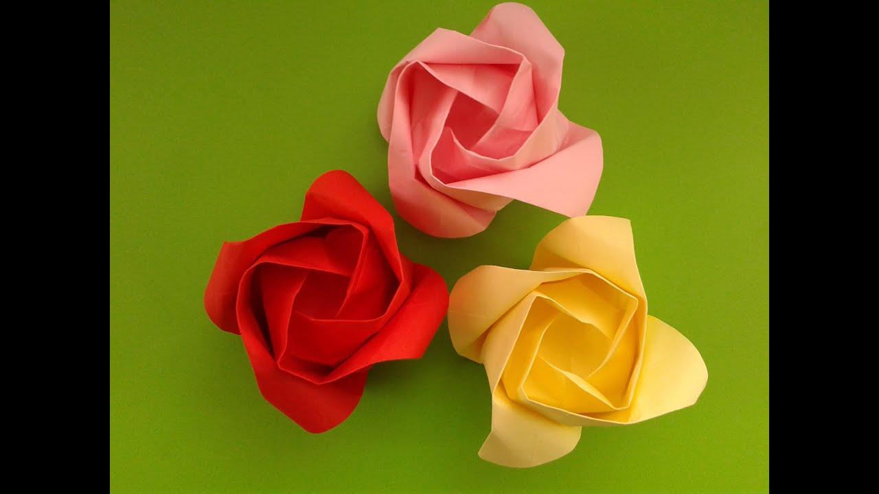Origami Rose оригами роза - YouTube - photo#11