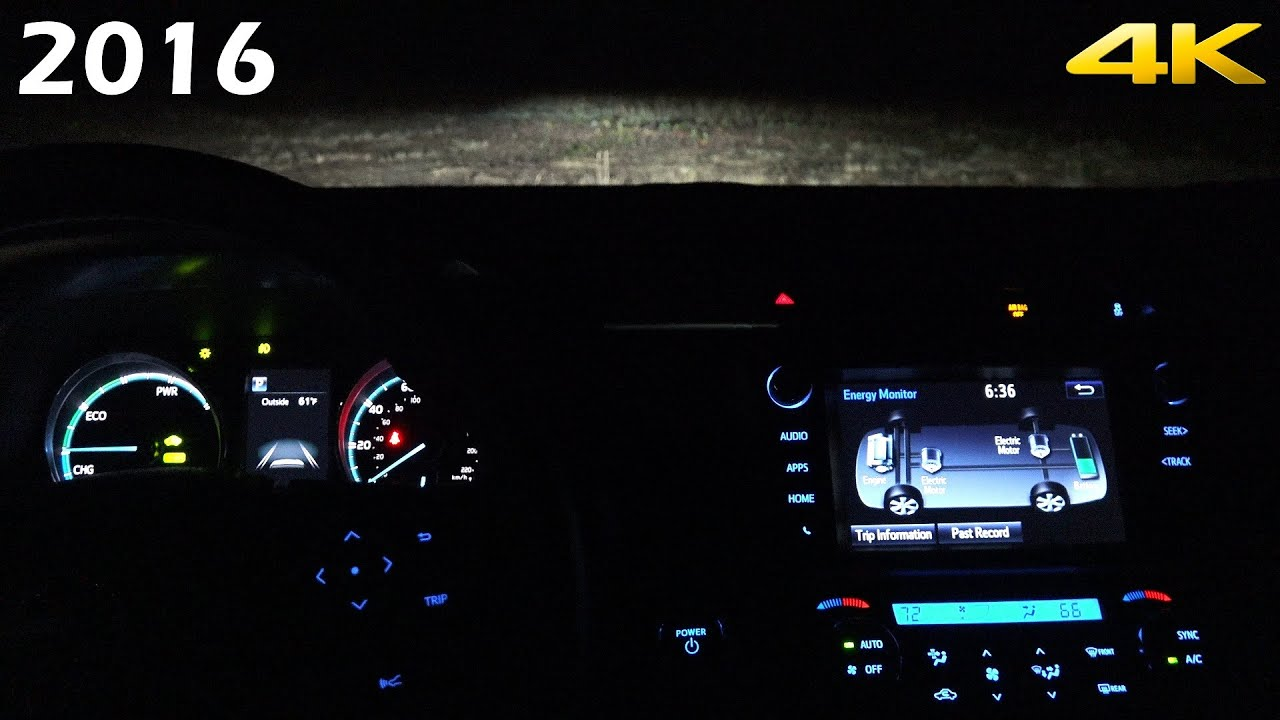 At Night 2016 Toyota Rav4 Interior And Exterior In 4k