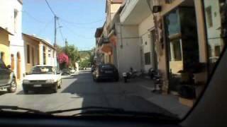 Drive through Kalyves, Crete (2010).