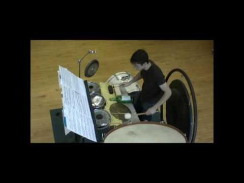 """multi percussion solo """"Evil Ernie"""" casey cangelosi"""