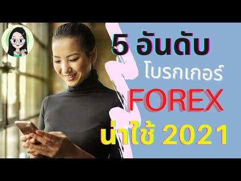 Top5 อันดับ โบรกเกอร์ Forex นิยมใช้แห่งปี 2021