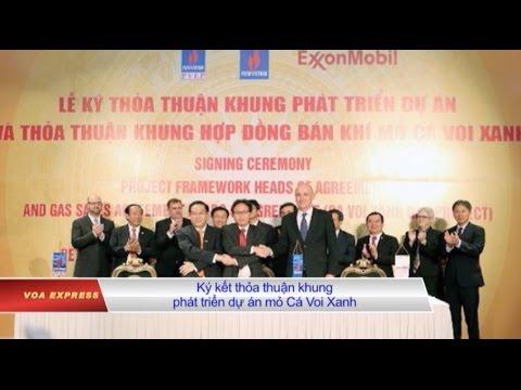 ExxonMobil ký hợp đồng khai thác khí đốt ở biển Đông