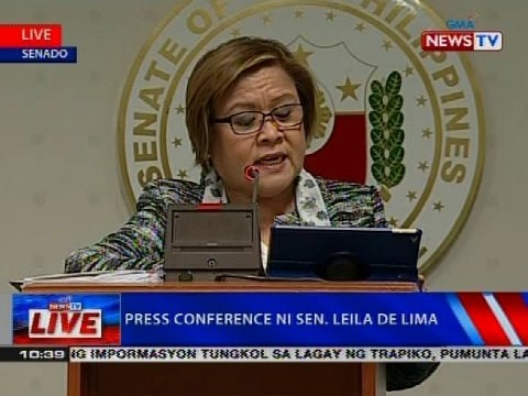 NTVL: Press conference ni Sen. Leila de Lima