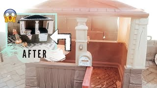 DIY Playhouse Makeover | BEFORE & AFTER | #DDOD #DIYPLAYHOUSEMAKEOVER
