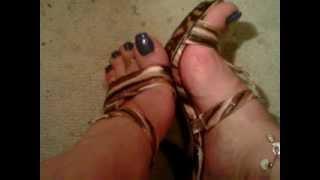 Crossdresser Dephsacha Lola Red High Heels Mule Feet Fetish Toe Sandal Sexy Wife 39 S Shoe
