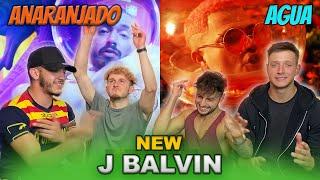 UK Reacts to J balvin ANARANJADO Y AGUA  🥶🔥 | Latin Edition |
