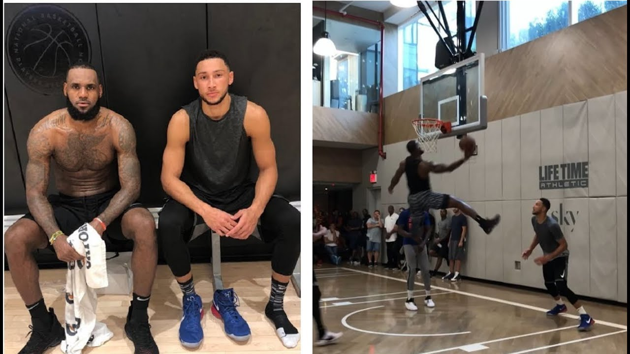 LeBron James, Ben Simmons TAKES OVER Vs. NBA Players in a Pick Up Game In NEW YORK ???? ????