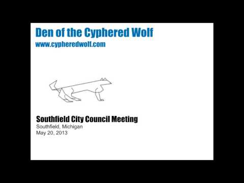 May 20, 2013 Southfield City Council Meeting