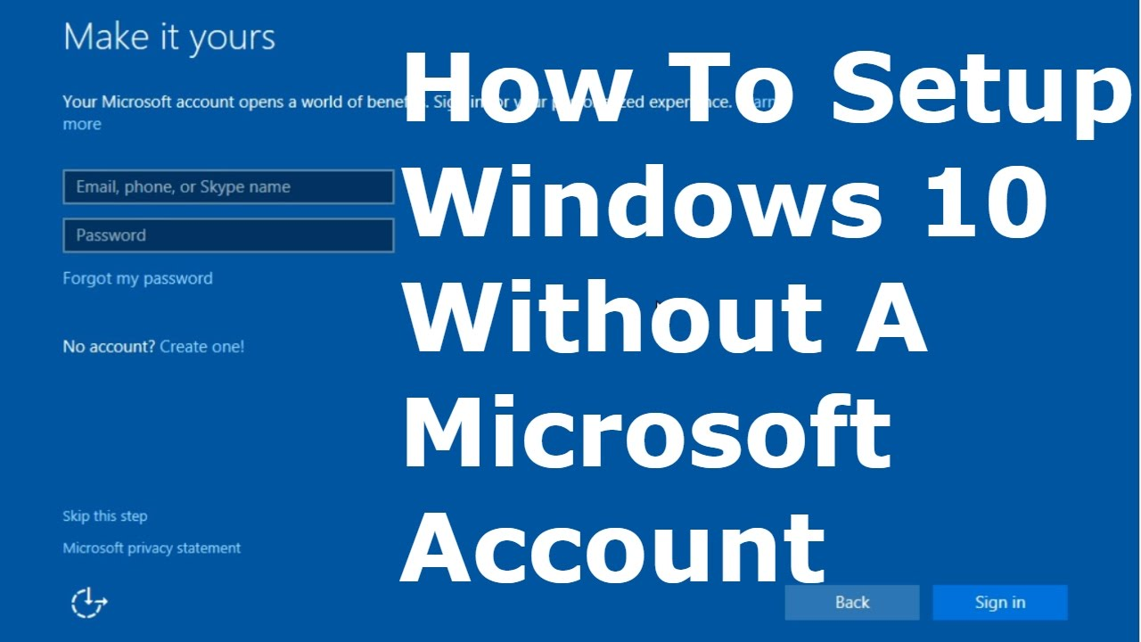 do you need a microsoft account for windows 10