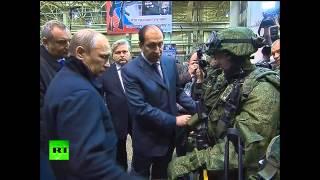 Владимиру Путину показали взвод будущего