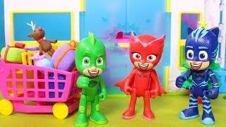 HEROES EN PIJAMA 🎅🛒 PJ Masks compran los regalos de Navidad en el Supermercado