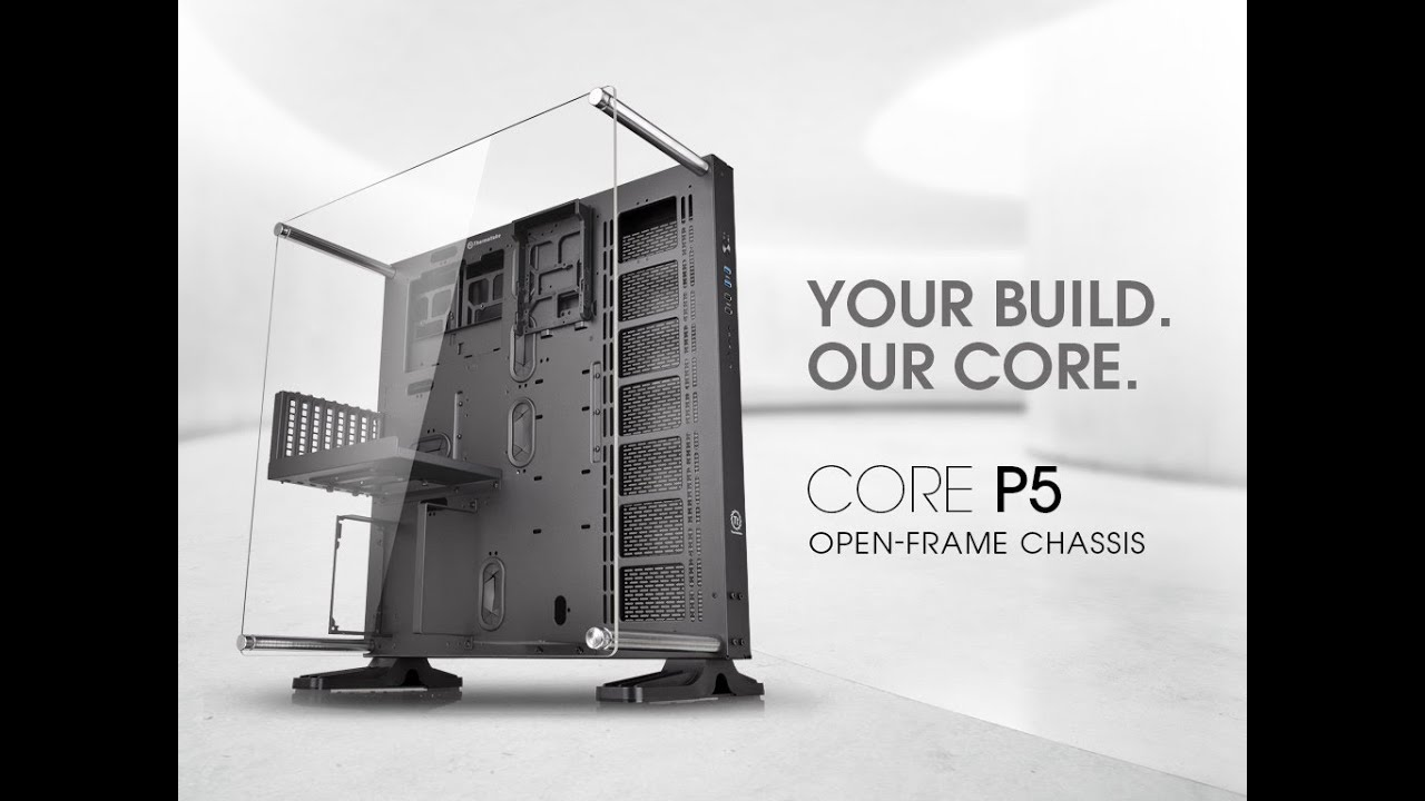 Get An In Depth Look At The Brand New Core P5 Atx Open Framet Chassis With Our North American Marketing Team Join The Open Frame Computer Case Wall Mounted Pc