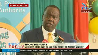 Interior CS Fred Matiang'i warns public officers against impunity