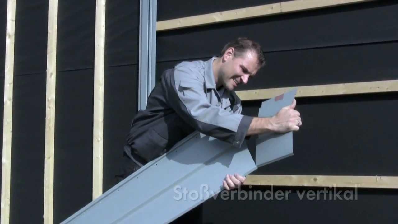rheinzink sp line montagevideo fassade aus titanzink. Black Bedroom Furniture Sets. Home Design Ideas