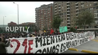 LIVE: Protest against Duque's social and economic policies in Bogota