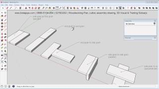 Sketchup 2014   Woodworking Joint   Basic Type Wood Joint Review