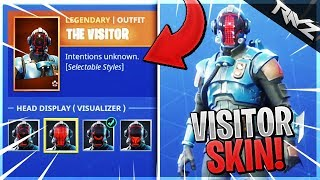 "WHAT HAPPENS WHEN YOU UNLOCK THE BLOCKBUSTER ""VISITOR"" SKIN? (Fortnite Battle Royale SECRET STORY)"