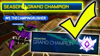 GETTING THE SEASON 4 GRAND CHAMP TAG IN ROCKET LEAGUE!!