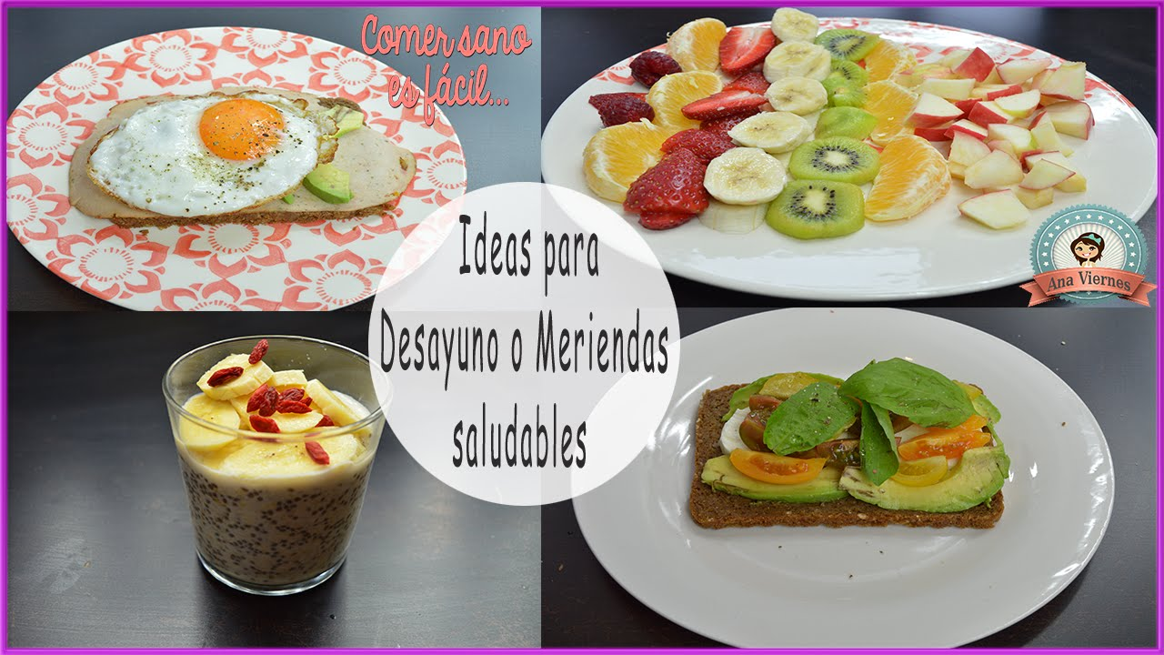 Ideas para desayunos o meriendas saludables comer sano es for Comidas faciles y saludables