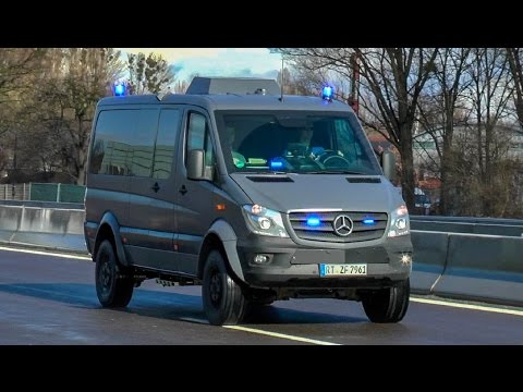 7 Zivile Fahrzeuge - SEK GÖPPINGEN EINSATZFAHRT auf der AUTOBAHN