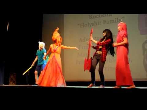 ComXFest 2017 Cosplay: Adventure Time (Finn, Marceline, Princess Bubblegum, Flame Princess)