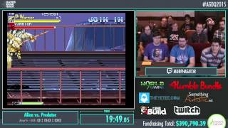 Awesome Games Done Quick 2015 - Part 89 - Alien vs. Predator by MURPHAGATOR!