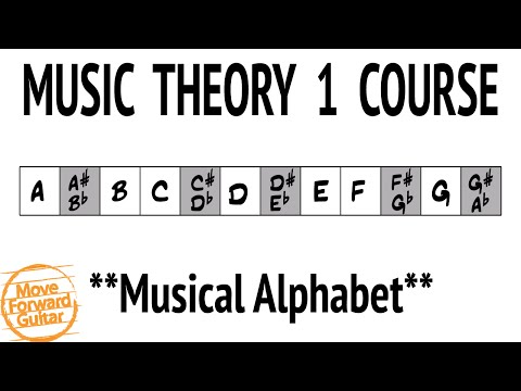 Music Theory 1 Guitar Course - Musical Alphabet - Lesson 1