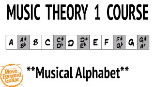 Video Music Theory 1 Guitar Course - Musical Alphabet - Lesson 1 download MP3, 3GP, MP4, WEBM, AVI, FLV November 2018