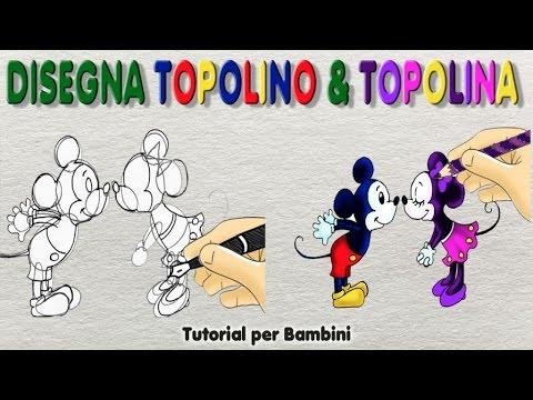 Disegna Topolino E Topolina Semplice Tutorial Per Bambini