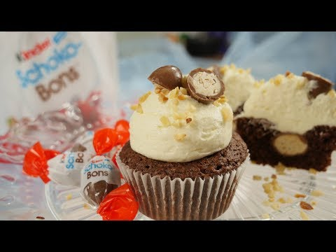 Kinder Schoko Bon Cupcakes mit Milchcreme Frosting | Cupcake Rezept