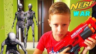 NERF VS ZOMBIE: Zombie Apocalypse НЕРФ ВОЙНА Зомби Апокалипсис война за выживание DiCrazy