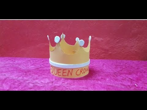 How to make a beautiful queen crown from paper || DIY paper crown