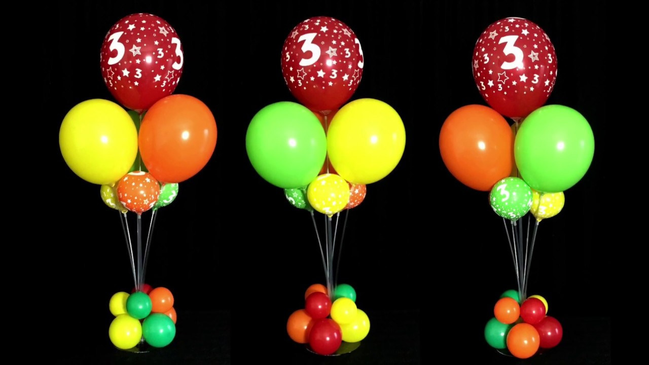 How to make balloon table decorations without helium