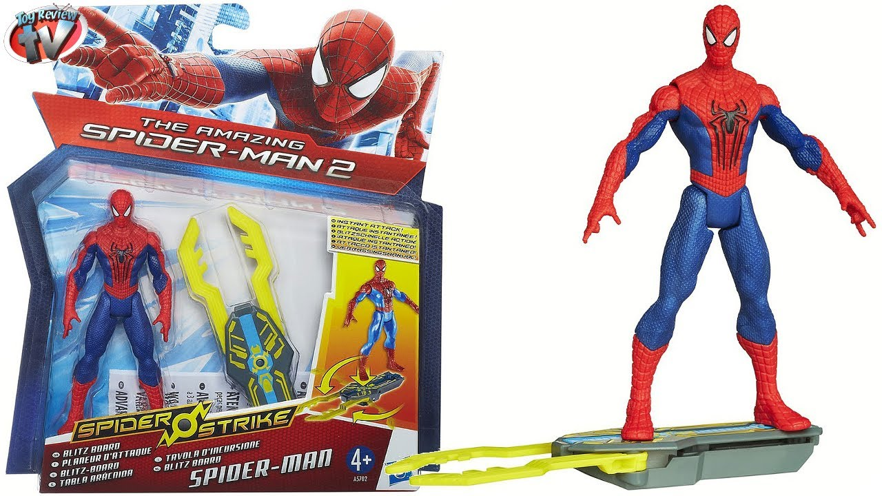 Kids Toys Action Figure: The Amazing Spider-Man 2: Blitz Board Figure Toy Review