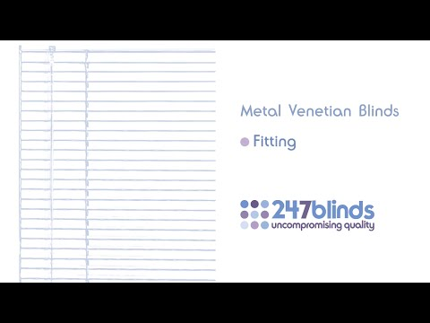 Aluminium Venetian Blind Fitting Instructions