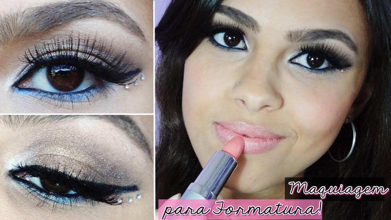 Excepcional Maquiagem que combina com QUALQUER COR de Vestido! - YouTube EL74