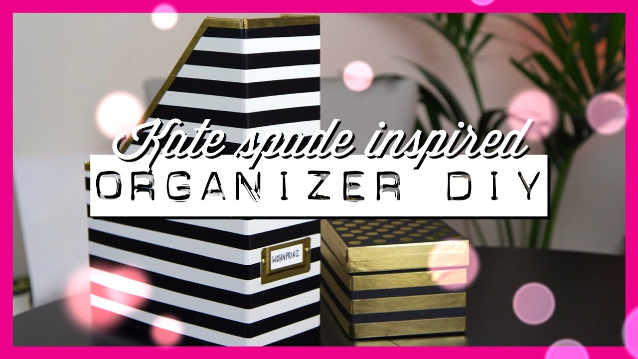 schreibtisch aufpeppen organizer diy kate spade inspired wohnprinz youtube. Black Bedroom Furniture Sets. Home Design Ideas