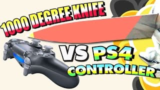 EXPERIMENT Glowing 1000 degree KNIFE VS PS4 Controller, GIANT Foam Finger, & More!