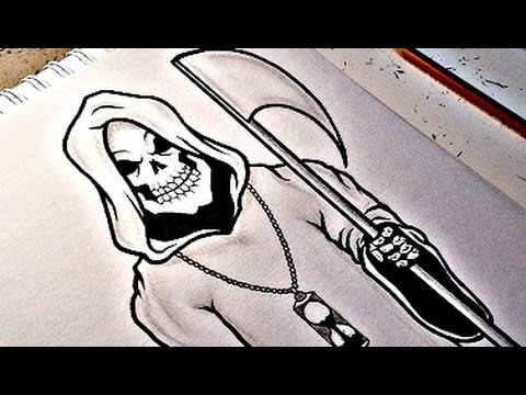how to draw the grim reaper youtube