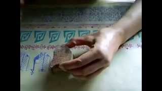 Creating Pattern On Fabric Using Indian Hand Carved Wood Blocks/stamps