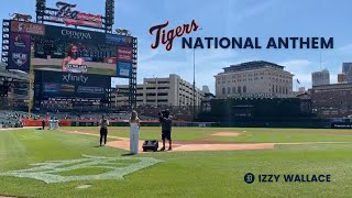 National Anthem   Detroit Tigers   Izzy Wallace